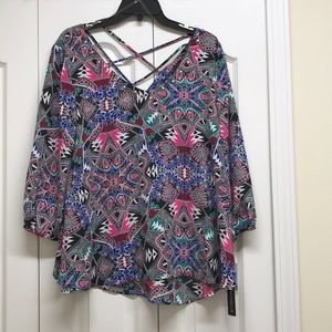 My Michelle abstract boho style top